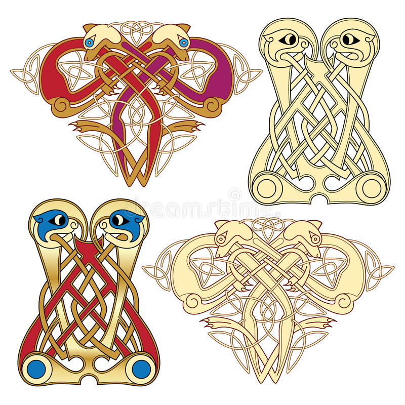celtic motiv vektor illustrationer