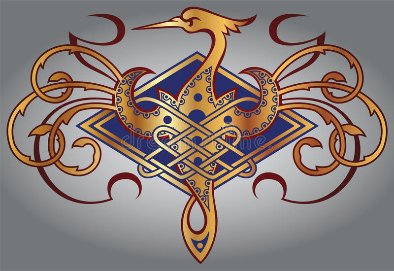 CELTIC MOTIV royaltyfri illustrationer