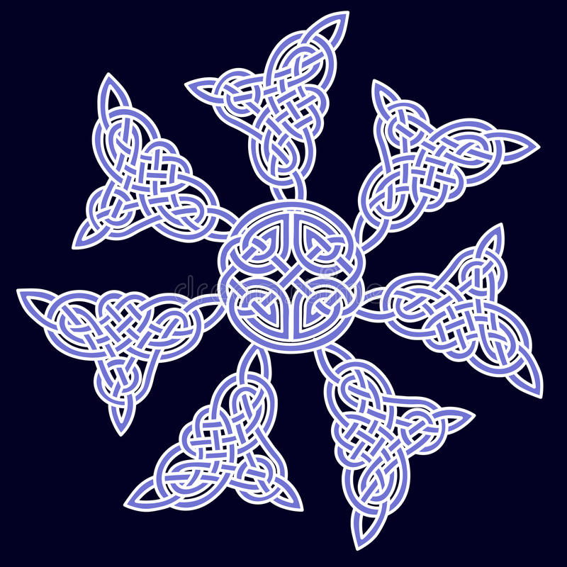 Download Celtic Ornament Of Flowers Stock Photos - Image: 24902943