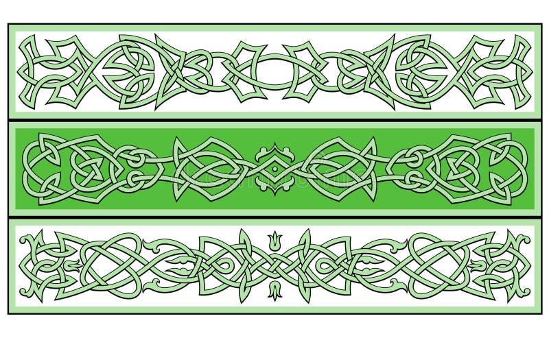 Celtic ornaments stock illustration
