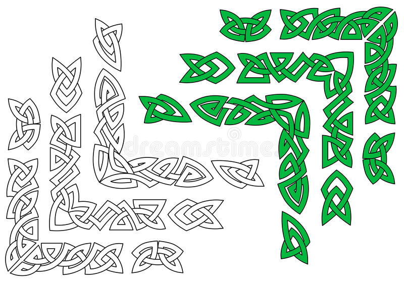 Celtic ornaments and patterns vector illustration