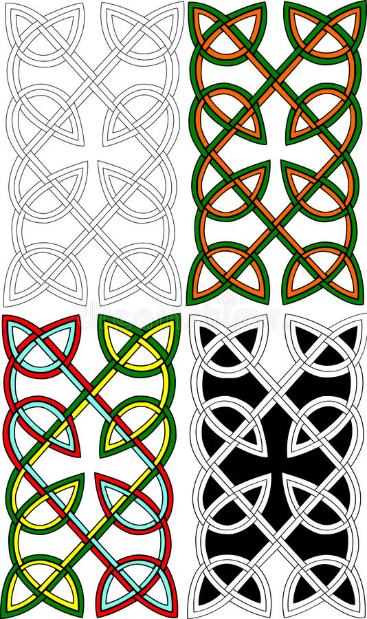 Download Celtic pair knots stock illustration. Image of elements - 16514978