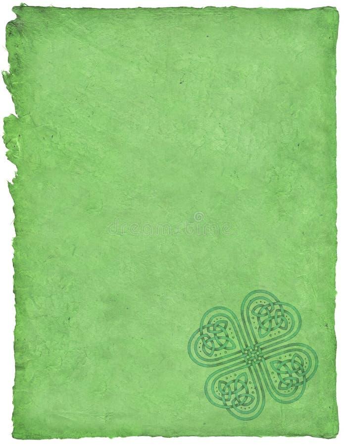 celtic parchment royaltyfri illustrationer