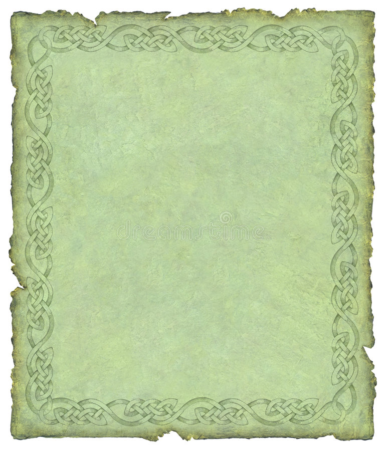 celtic parchment vektor illustrationer