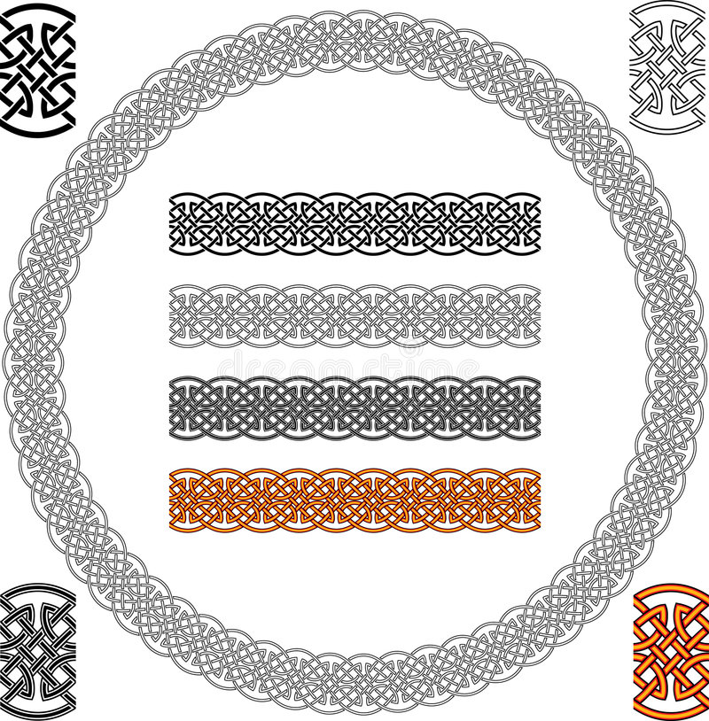 Celtic Pattern. Celtic Abstract Texture Ornament - Seamless Background Vector