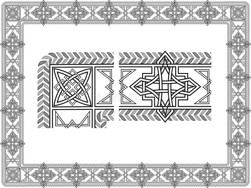 Celtic patterns royalty free illustration