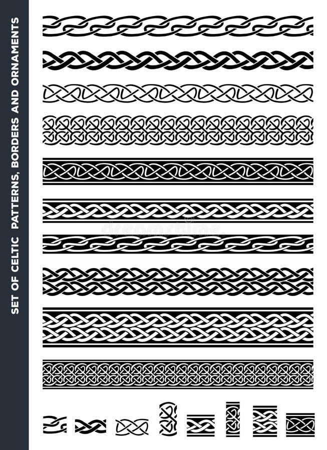 Celtic Patterns And Ornaments Set royalty free illustration