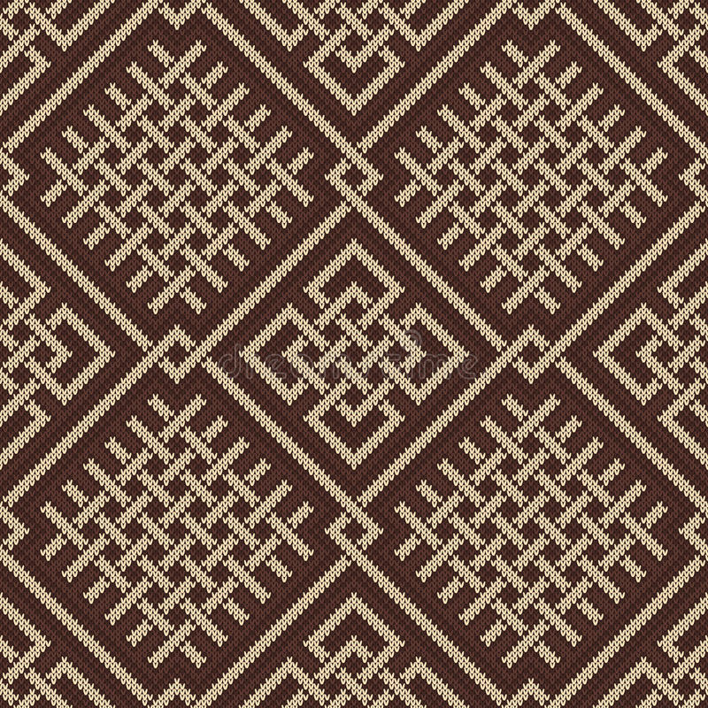Celtic Plexus Design Pattern. Knitted Wool Seamless Background Stock ...