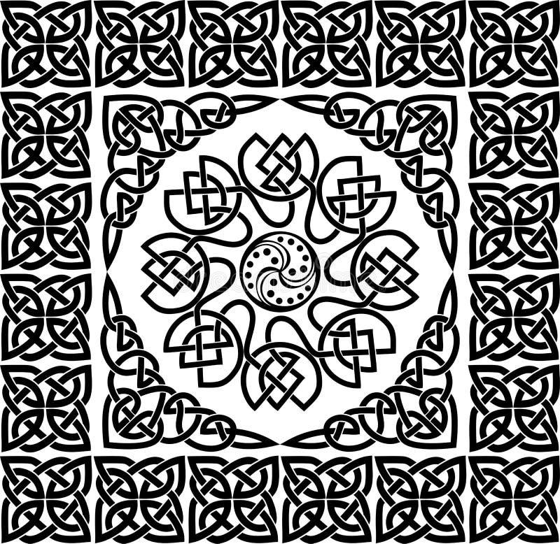 celtic prydnadvektor stock illustrationer