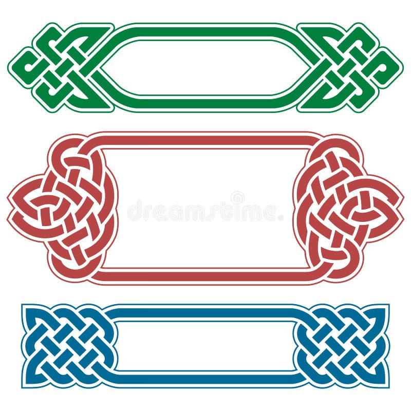 Celtic ramuppsättning för vektor royaltyfri illustrationer