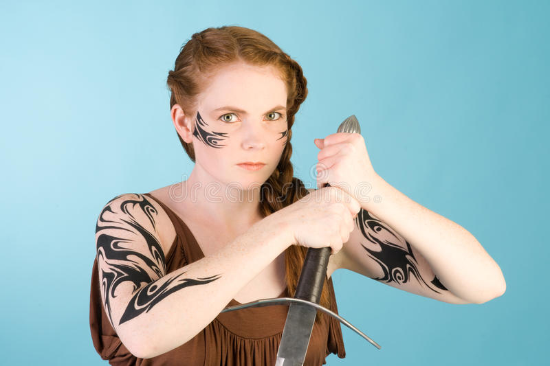 Download Celtic redhead beauty stock image. Image of black, artistic - 15851919