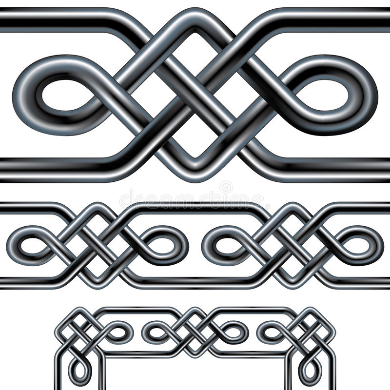 Free Celtic Rope Seamless Border Design With Corner Ele Stock Photo - 9786420