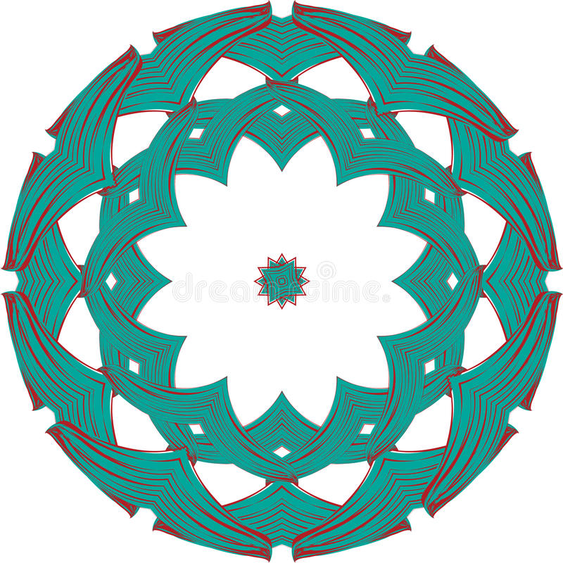 Celtic round ornament vector illustration
