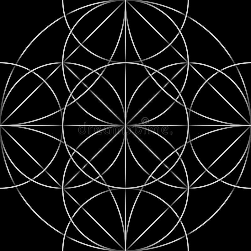 Celtic seamless pattern. Abstract ornament, geometric texture, vintage wallpaper stock illustration