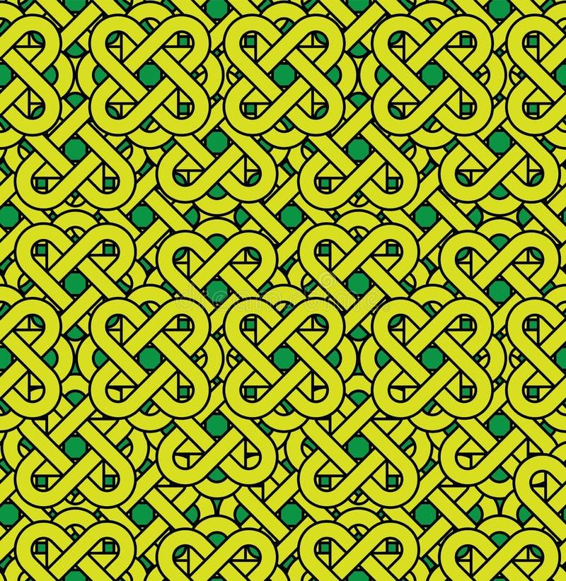 Celtic seamless pattern. Abstract vintage geometri royalty free illustration