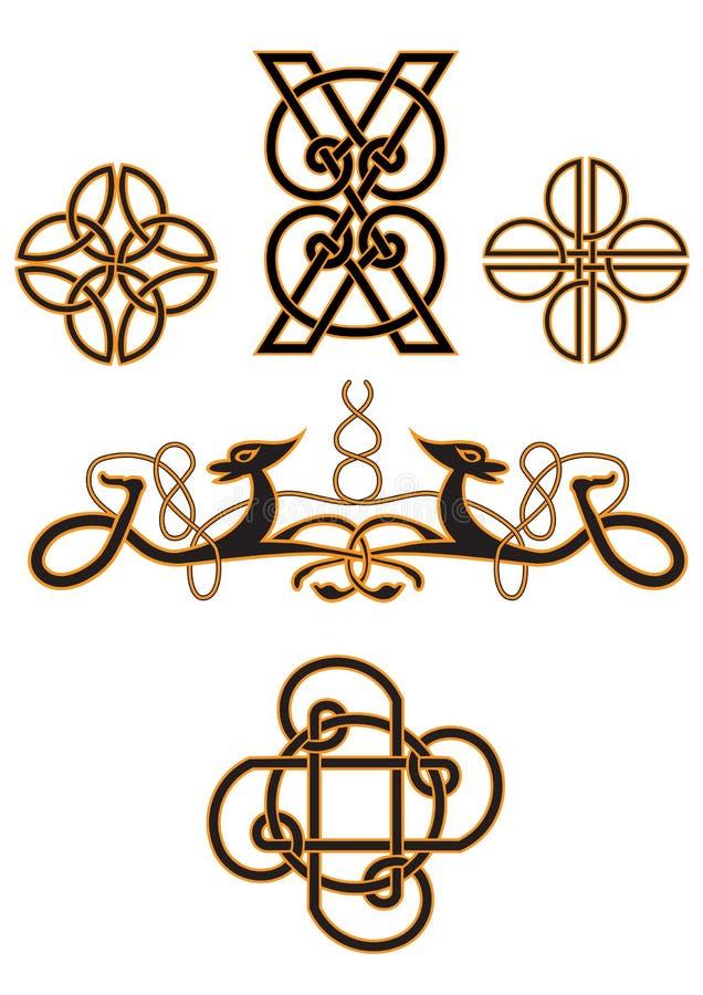 celtic spiral vektor illustrationer