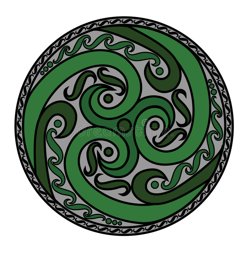 Celtic spiral ornament royalty free stock photography