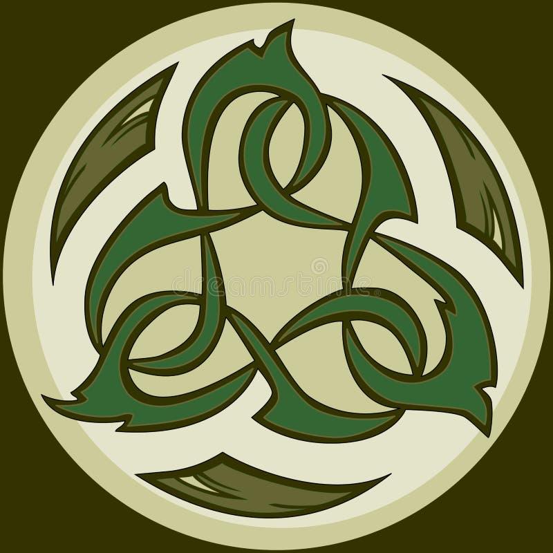 celtic stam- symbolsknotwork för camo vektor illustrationer