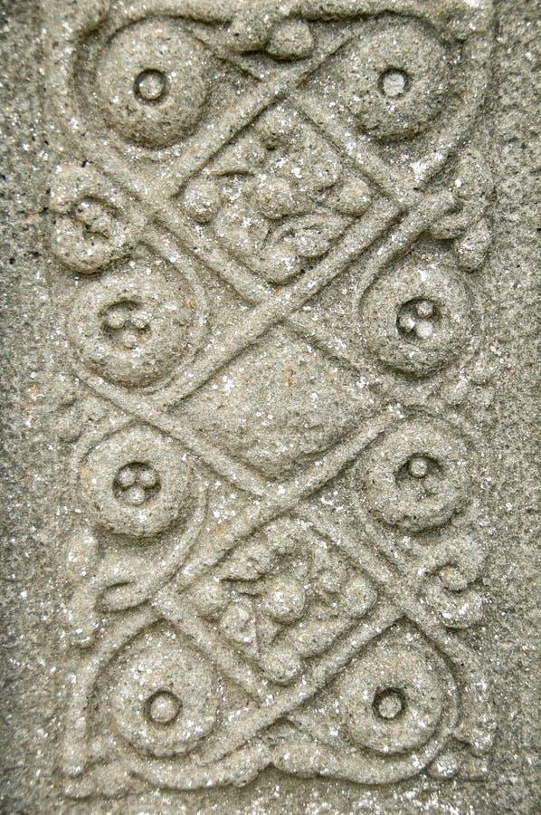 Celtic Stone design.Isle of Iona,near Mull, Argyll and Bute,Scotland,UK. stock photo