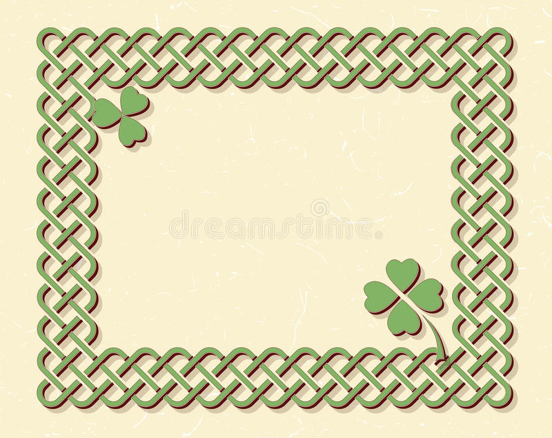 Celtic style knot frame royalty free illustration