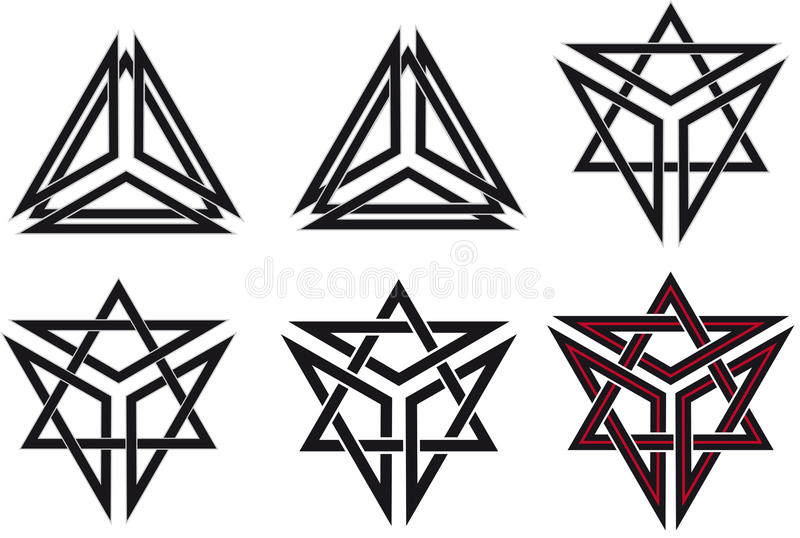 Celtic symbols stock images