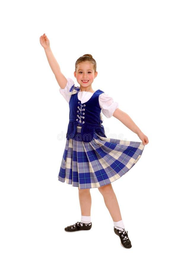 celtic traditionell dansareirländare arkivbild