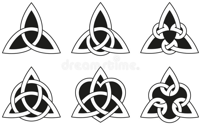 Celtic Triangle Knots vector illustration