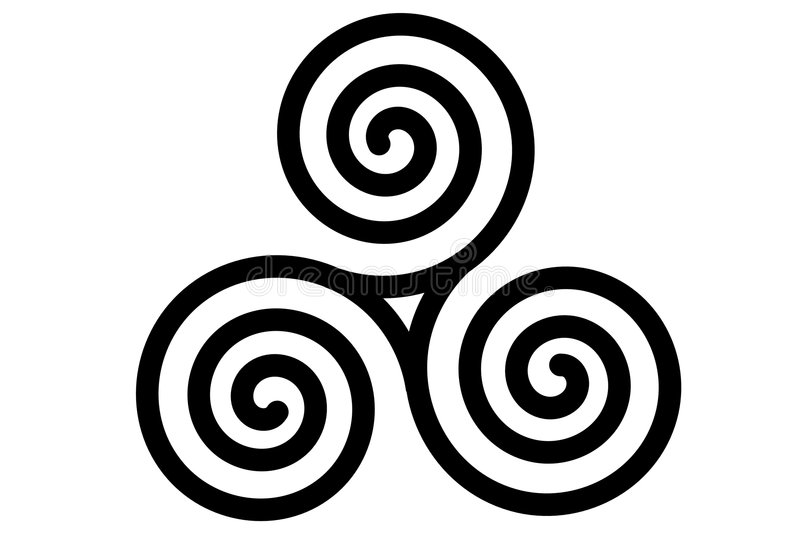 Celtic triple spiral stock illustration