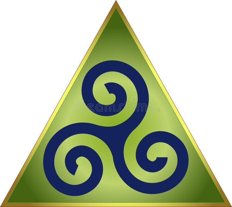 celtic triskele stock illustrationer