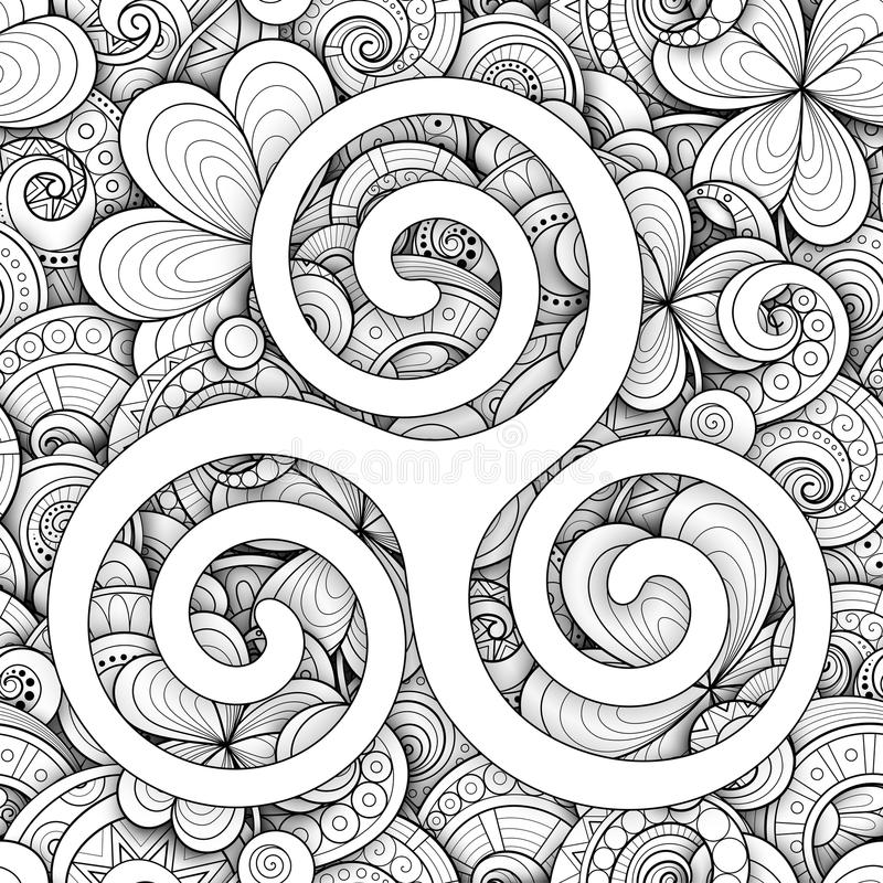 Celtic Triskele Symbol, Spiral Sign vector illustration