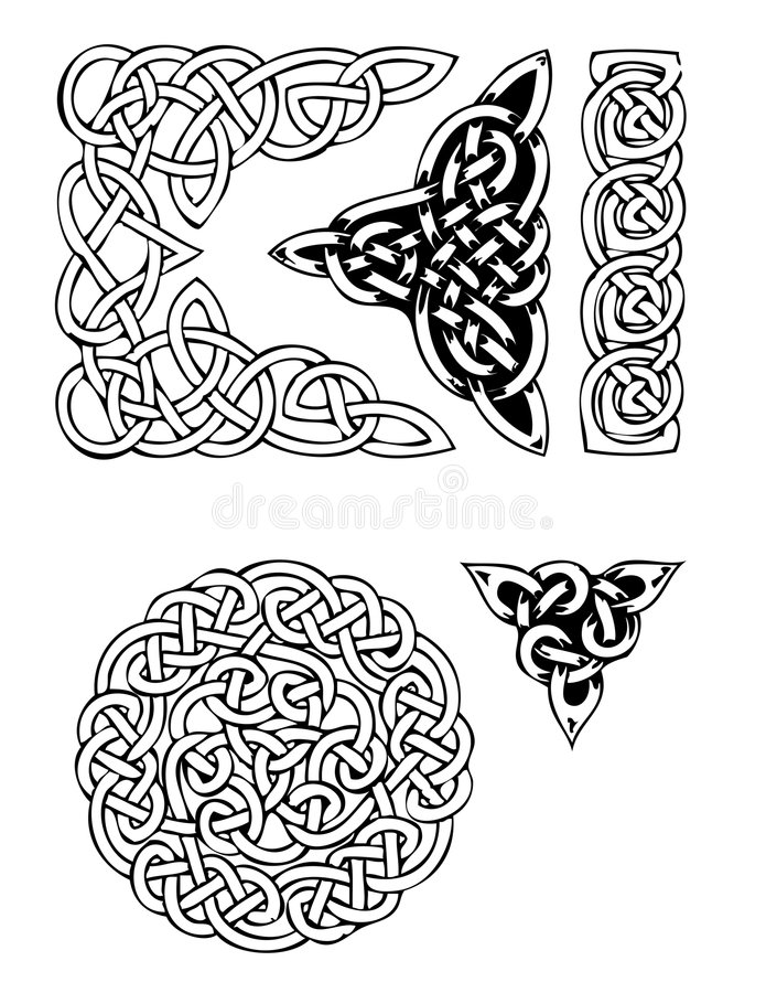 Celtic vector tatoo stock illustration