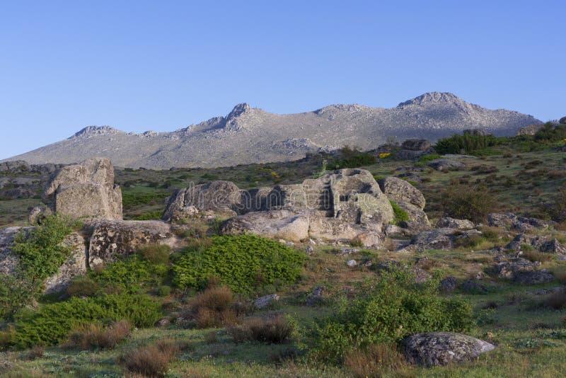 Celtico Castro di Ulaca Avila, Spagna fotografia stock