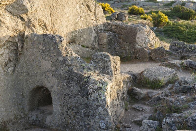 Celtico Castro di Ulaca Avila, Spagna immagini stock