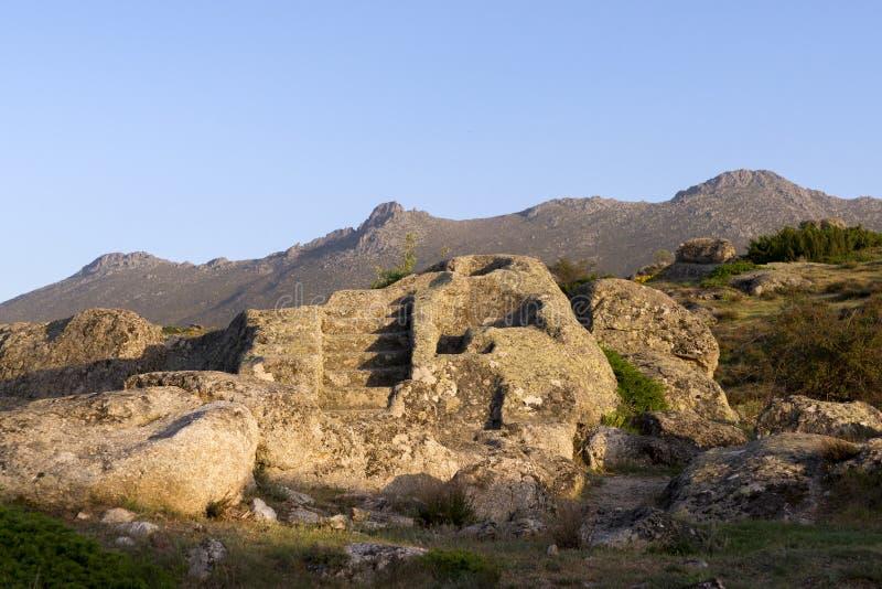 Celtico Castro di Ulaca Avila, Spagna immagini stock libere da diritti