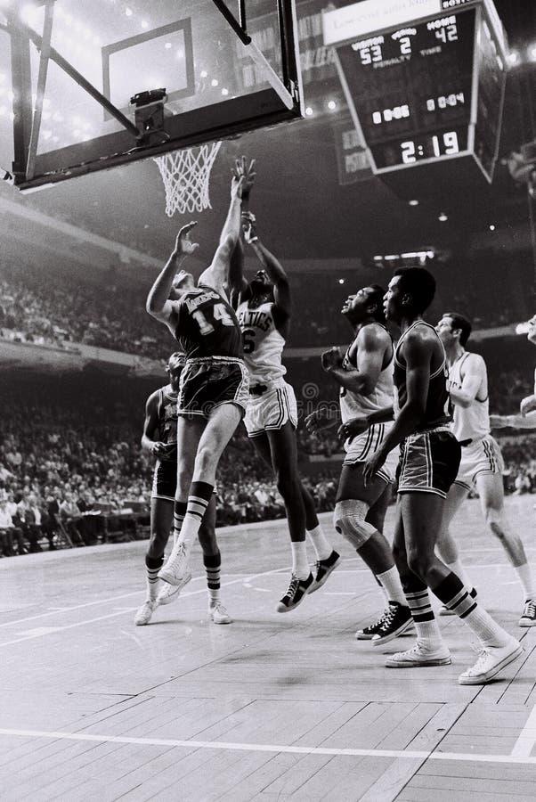 Celtics de Bill Russell Boston fotos de archivo libres de regalías