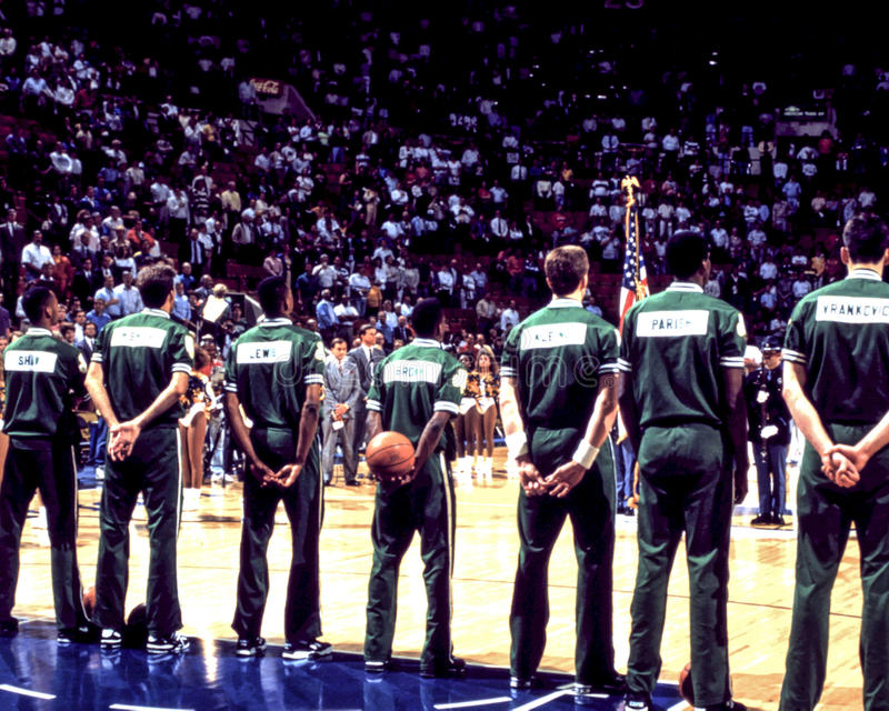 Celtics de Boston del vintage foto de archivo