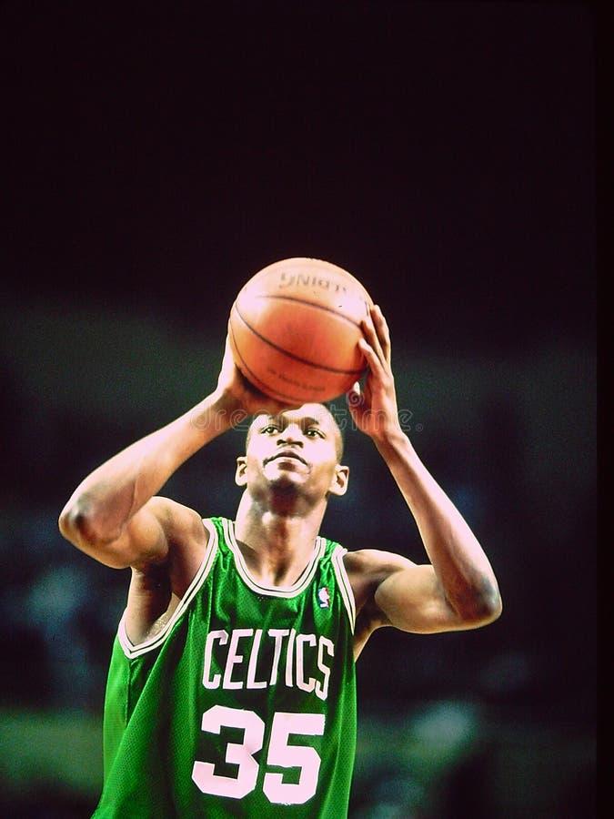Celtics de Reggie Lewis Boston imagen de archivo