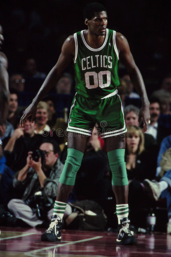 Celtics de Roberto Parrish Boston foto de archivo