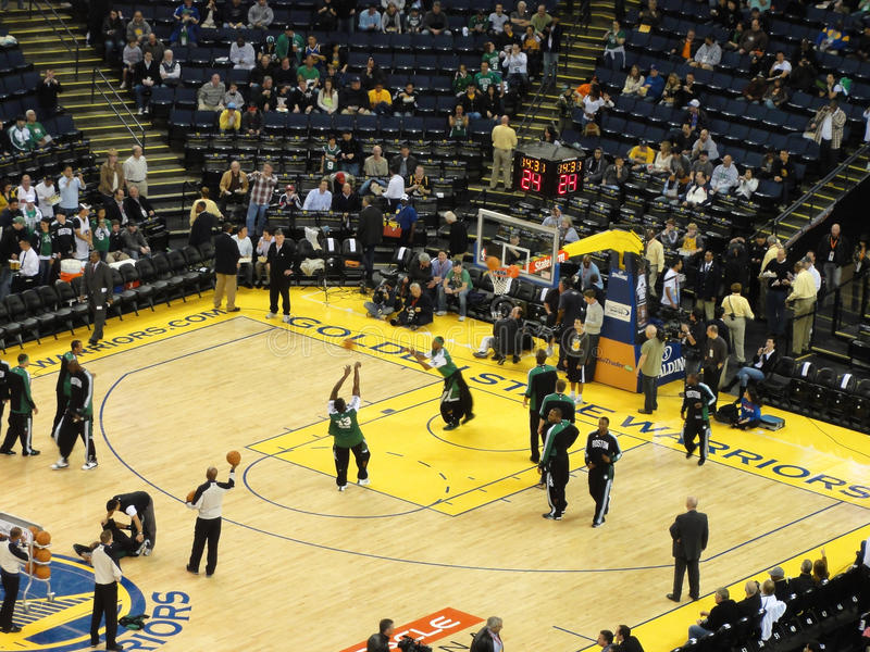 Download Celtics Shoot Around During Pre-game Warm-ups Editorial Stock Photo - Image: 18677638
