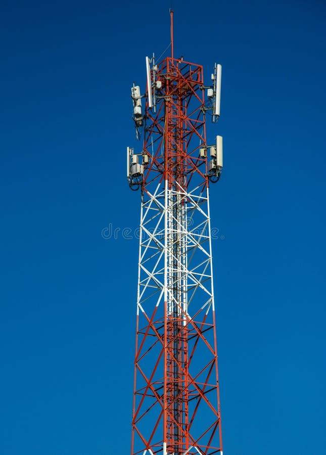 Celtoren voor het uitzenden en mededeling 4g, 5g, GSM stock foto