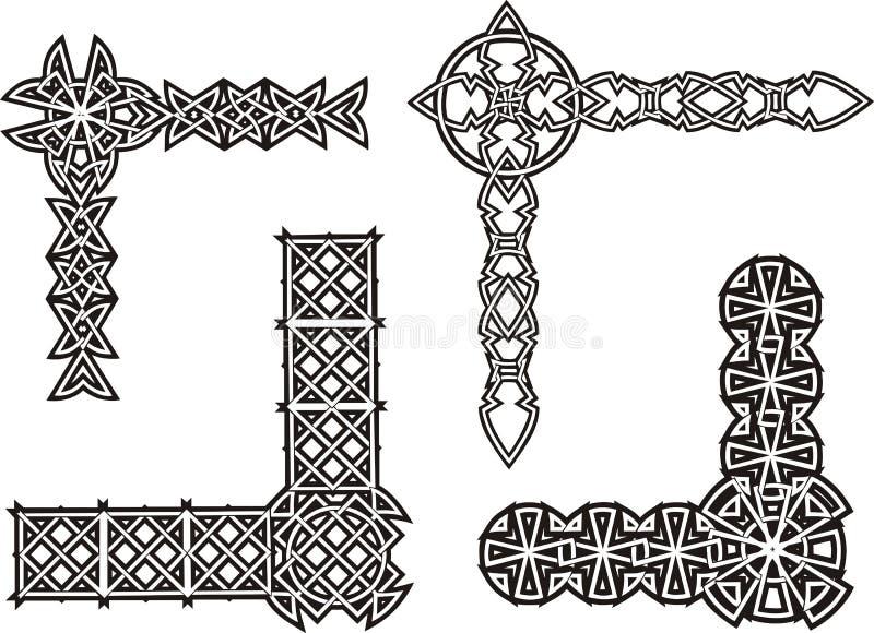 Celtyccy dekoracyjni kępka kąty ilustracji