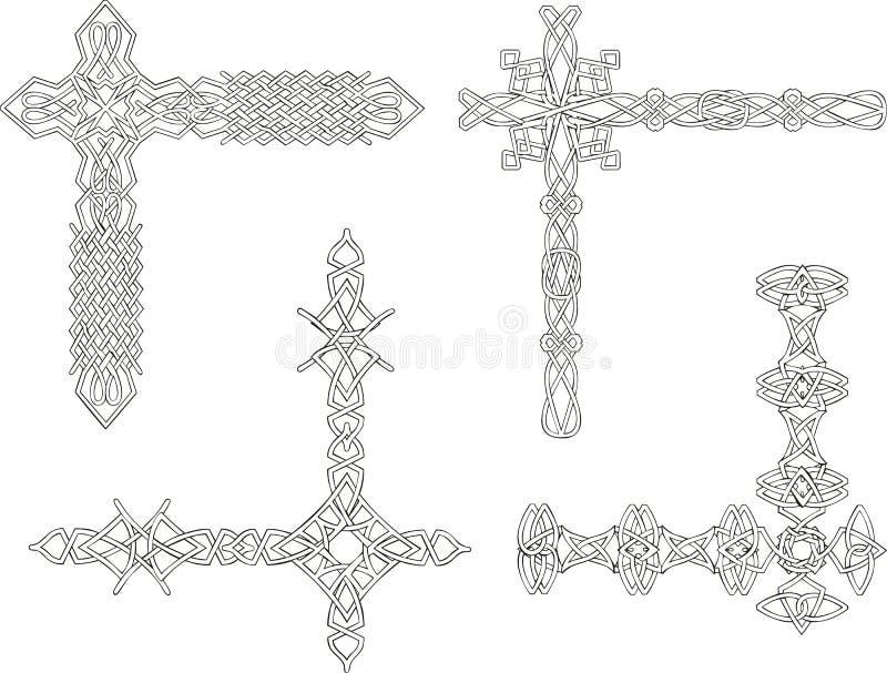 Celtyccy dekoracyjni kępka kąty royalty ilustracja