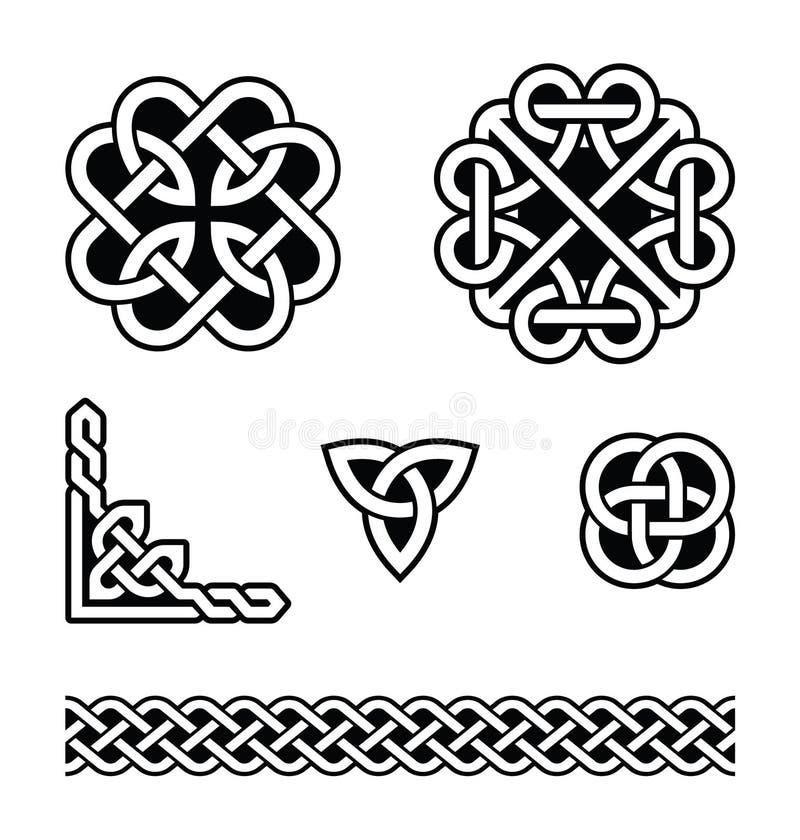 Celtyccy kępka wzory -   royalty ilustracja