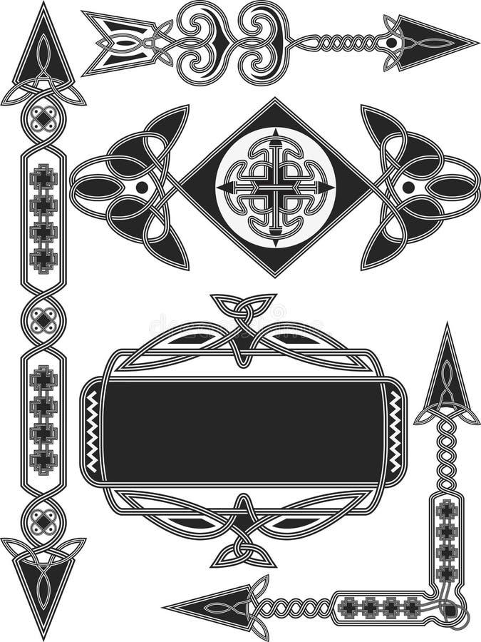 Celtyccy tradycyjni elementy royalty ilustracja