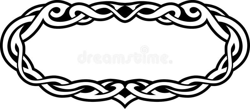 Celtycka abstrakt granica royalty ilustracja