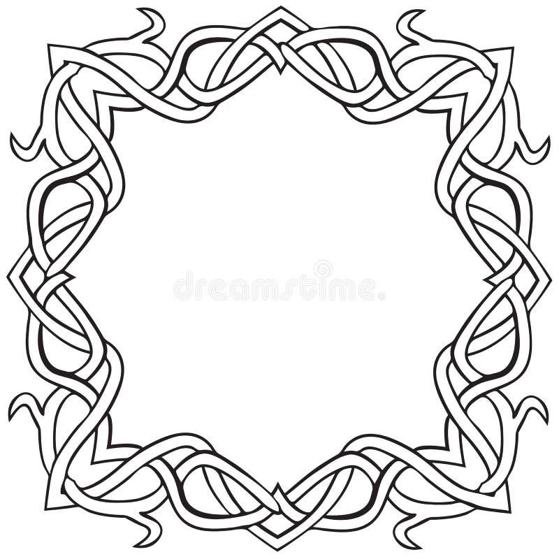 Celtycka kępka kwadrata rama royalty ilustracja