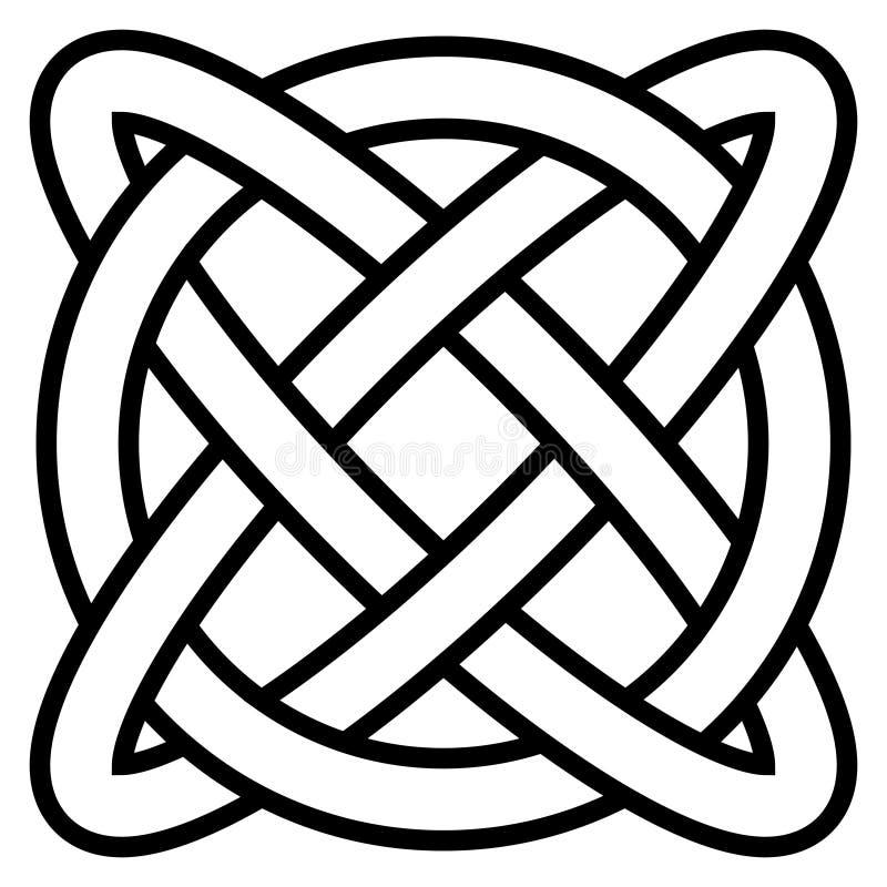 Celtycka kępka symbolu wiecznie życia nieskończoność, wektorowa amuletu symbolu długowieczność i zdrowie, symbol zdrowie psychicz royalty ilustracja