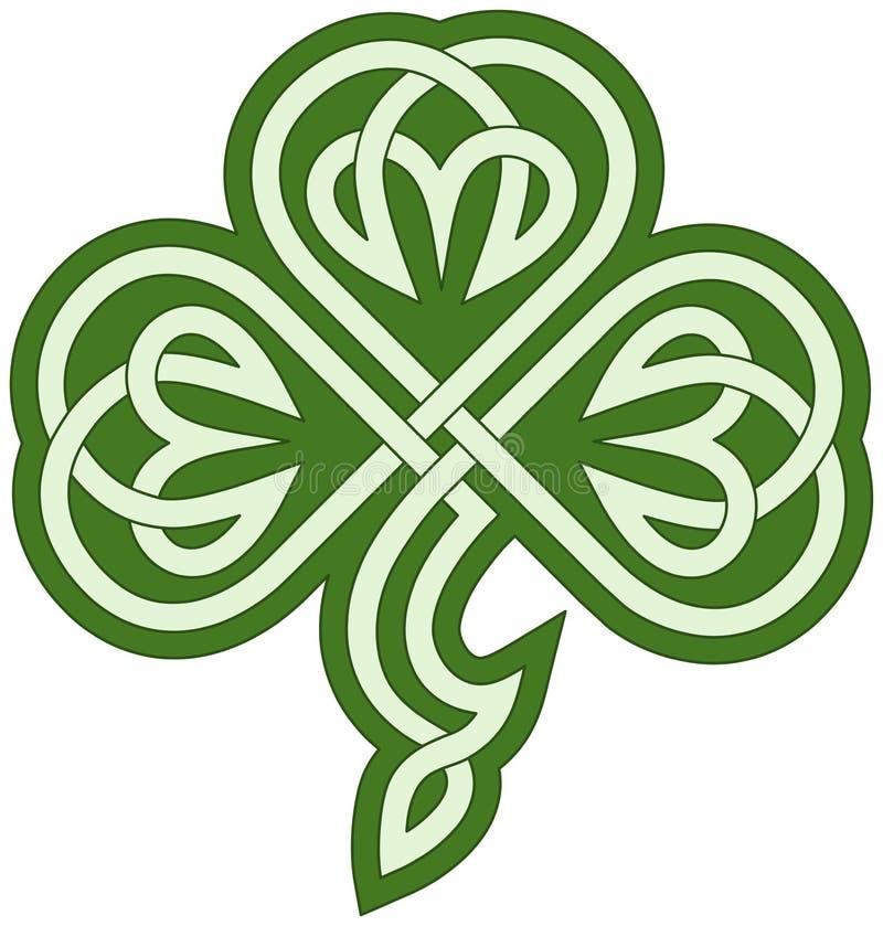 Celtycka koniczyna ilustracji