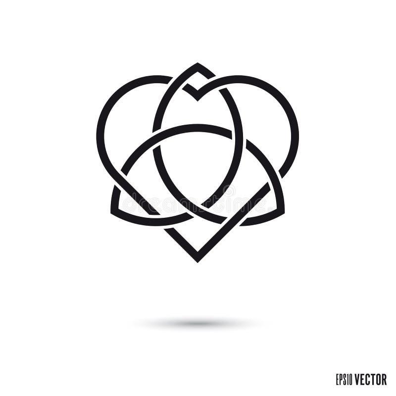 Celtycka miłości kępki symbolu wektoru ilustracja ilustracja wektor