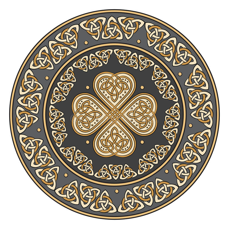 Celtycka osłona, dekorująca z antycznym europejczyka wzorem royalty ilustracja